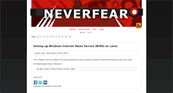 Preview of neverfear.org